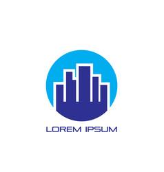 circle city logo vector image