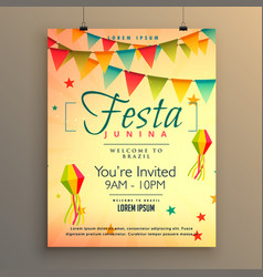 elegant festa junina season background with vector image vector image