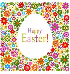 floral card easter celebration vector image