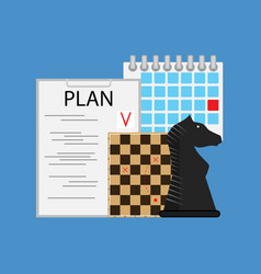 plan tactic and strategy business vector image