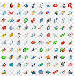 100 plan icons set isometric 3d style vector