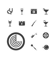 13 shot icons vector