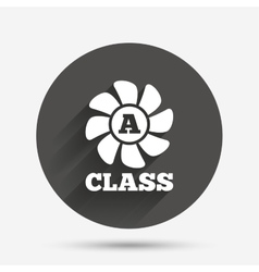 A-class ventilation sign icon Energy efficiency vector