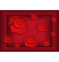 Abstract roses background vector