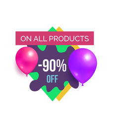 all products off hot prices promo sticker balloons vector image