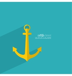 Anchor with long shadow vector image