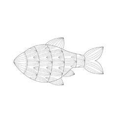 Aquarium Tropical Fish Sea Underwater Nature Adult vector image
