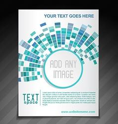 Artistic mosaic brochure vector