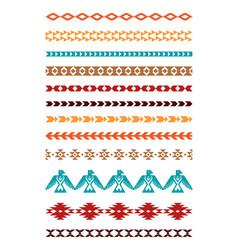Aztec tribal borders vector
