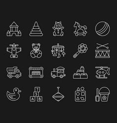 Batoy simple white line icons set vector
