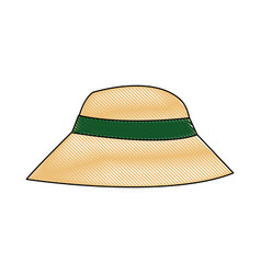 beautiful hat summer sun floppy image vector image