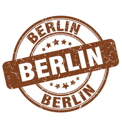 Berlin brown grunge round vintage rubber stamp vector