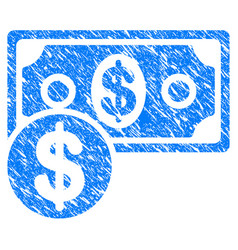 cash grunge icon vector image