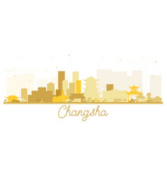 Changsha china city skyline silhouette with vector