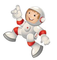 Child astronaut jumping vector