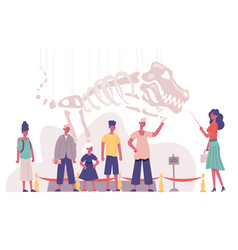 children group natural history museum educational vector image