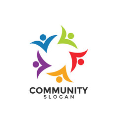 community people graphic design template vector image