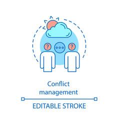 Conflict management concept icon stress tolerance vector