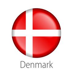 denmark round button flag vector image