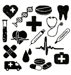 Doodle medical images vector
