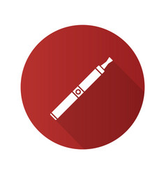 e-cigarette flat design long shadow glyph icon vector image