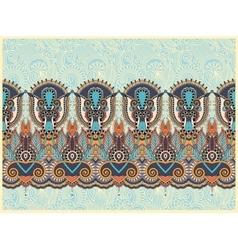 Ethnic horizontal authentic decorative paisley vector
