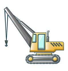 Excavator crane icon cartoon style vector