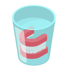 False jaw icon isometric 3d style vector