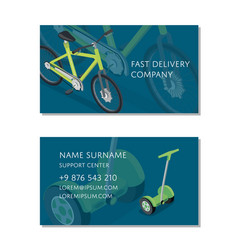 Fast delivery company business card template vector