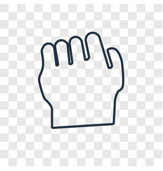 fist concept linear icon isolated on transparent vector image