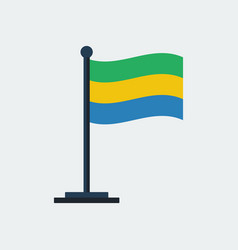 flag of gabon flag stand vector image