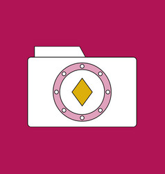 flat icon design collection casino chip on folder vector image