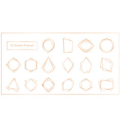 gold segments frames set on vector image