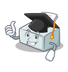 Graduation printer character cartoon style vector