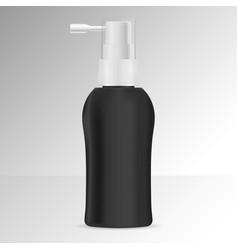 Hair tonic bottle mock spray dispenser vector
