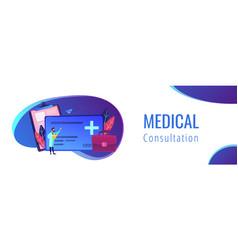 healthcare smart card header banner vector image