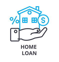 home loan thin line icon sign symbol vector image