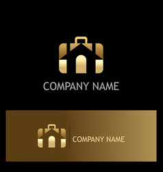 home sold agent gold logo vector image