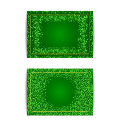 Horizontal saint patricks day banner template vector