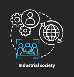Industrial society chalk concept icon mass vector