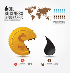 Infographics money and oilBusiness eat vector