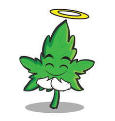 innocent face marijuana character cartoon vector image
