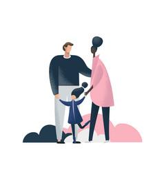 interracial family flat vector image