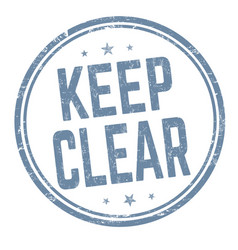 keep clear sign or stamp vector image
