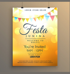 latin american festa junina festival background vector image