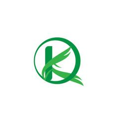 letter k nature logo vector image