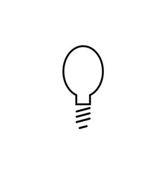light bulb simple linear icon vector image vector image