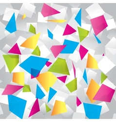 Light colorful abstract background with figures vector image