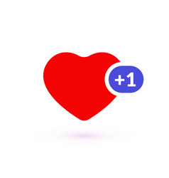 Like counter comment follower and notification vector