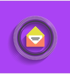 mail stamp flat modern design vector image